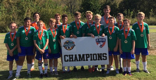 ESC 04 Boys for being Champions at the 2017 FC Dallas TRI Fall Festival Tournament